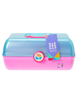Caboodles® On The Go Girl™ Blue And Pink Classic Makeup Case by Claire's