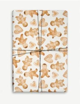 Gingerbread Wrapping Paper 50cm X 70cm by Parade