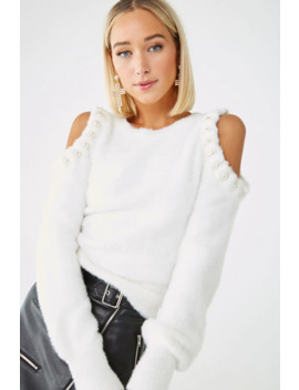 Faux Pearl Embellished Sweater by Forever 21