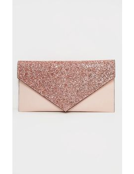 Pink Glitter Pu Contrast Clutch Bag by Prettylittlething