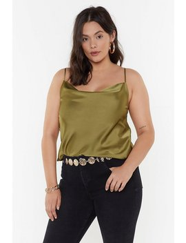Cowl Hearted Plus Satin Top by Nasty Gal