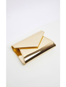 Gold Metallic Chain Cross Body Bag  by Prettylittlething