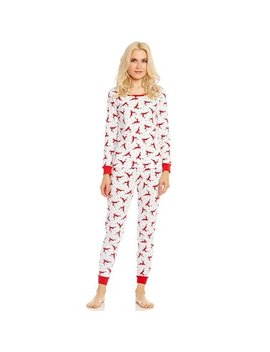 Leveret Women's Pajamas Fitted Christmas 2 Piece Pjs Set 100% Cotton Sleep Pants Sleepwear (X Small X Large) (Reindeer R/W, X Small) by Leveret