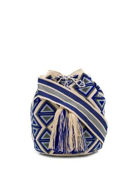 Colombian Knitted Bucket Bag by Folkloore