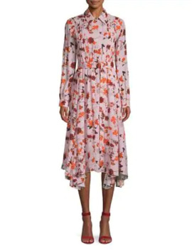 Floral Midi Dress by Hugo
