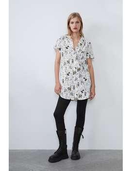 Figurative Printed Shirt by Zara