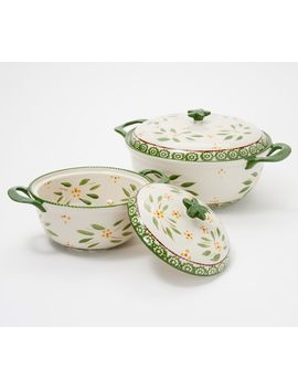 Temp Tations Old World Set Of 2 Lidded Bakers by Temp Tations® Ovenware