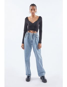 Uo Cameron Side Ruched Top by Urban Outfitters