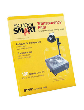 "School Smart Inkjet Transparency Film With Removable Strip, 8.5"" X 11"", 50 Pack by Generic"