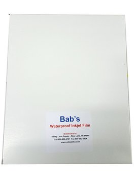 "Premium Waterproof Inkjet Transparency Film For Film Positives Or Negatives 13 X 19""   25 Sheets by Bab's"