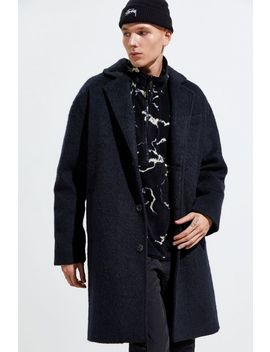 Uo Faux Wool Topcoat by Urban Outfitters