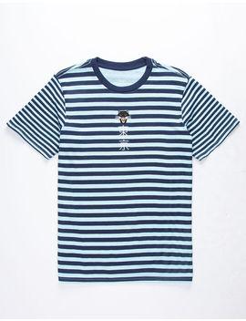 Neon Riot Panther Kanji Navy Boys T Shirt by Neon Riot