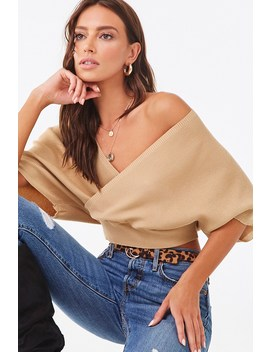 Surplice Dolman Sweater by Forever 21