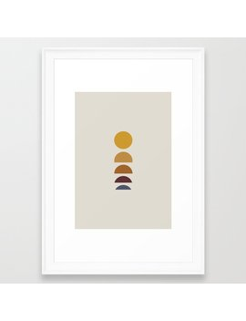 Minimal Sunrise / Sunset Framed Art Print by Society6