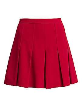 Pleated Mini Skirt by Red Valentino