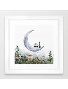 Moon House Framed Art Print by Society6