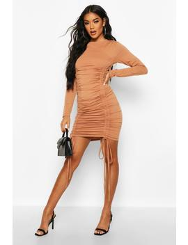 Ruched Detail Jersey Dress by Boohoo