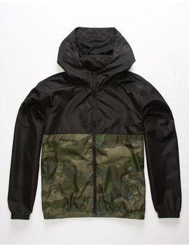 Independent Trading Company Lightweight Camo Boys Windbreaker Jacket by Independent Trading Company
