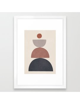 Balancing Elements Iii Framed Art Print by Society6