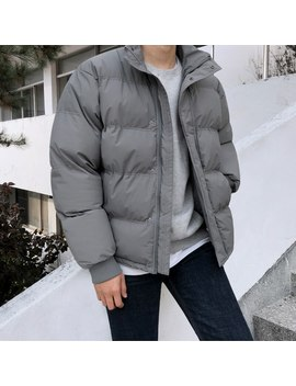 2019 2 Winter New Thick Loose Collar Jacket Coat Fashion Solid Color Large Pocket Casual Cotton Coat Popular Black / Gray M Xl by Ali Express.Com