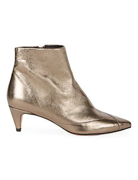 Durfee Metallic Leather Booties by Isabel Marant
