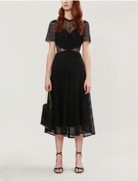 Panelled Guipure Lace Dress by Sandro