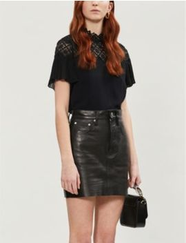Lace Panelled Top by Sandro