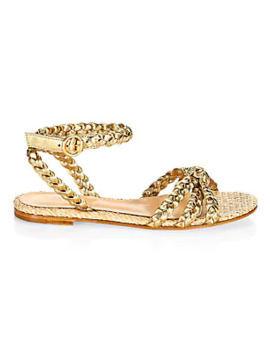 Braided Metallic Leather Sandals by Gianvito Rossi
