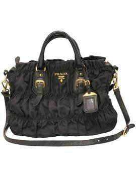 Nylon Gaufre Black Canvas Cross Body Bag by Prada