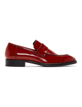 Red Ridley Loafers by Paul Smith