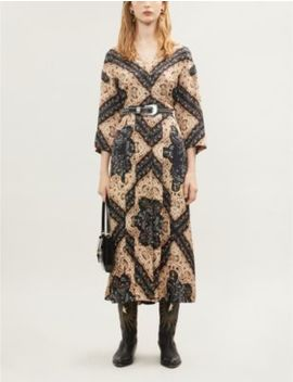 Paisley And Floral Print Woven Dress by Sandro