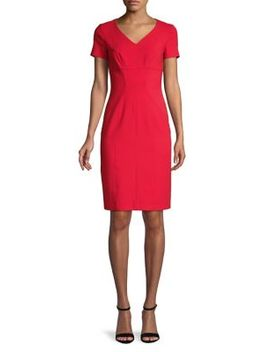 Kudera V Neck Sheath Dress by Hugo