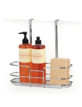 Lynk Over Cabinet Door Shelf With Liner In Chrome by Bed Bath And Beyond