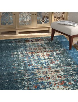 Amico Blue Area Rug by Bungalow Rose