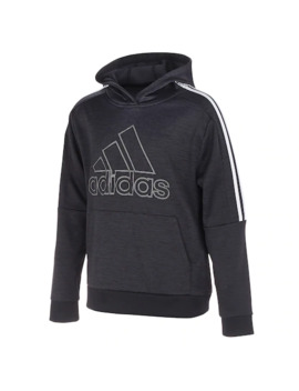 Boys 8 20 Adidas 3 Striped Fleece Pull Over Hoodie by Adidas
