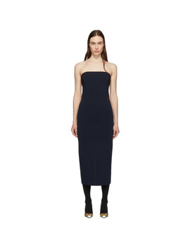 Navy Strapless Dress by Givenchy