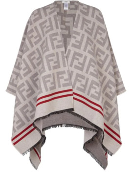 Ff Knit Poncho by Fendi
