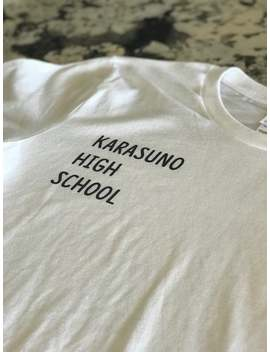 Karasuno High School T Shirt, Unisex, Tops, Tees, Anime, Haikyuu, Animation, Women, Black, White, Gray, Uniform Graphic Tees Clothing Gift by Etsy