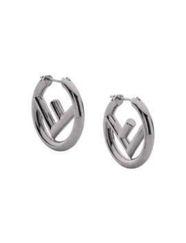 Logo Earrings by Fendi