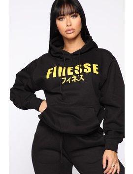 It Takes Finesse Hoodie   Black by Fashion Nova