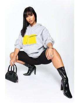 Think Outside The Box Tunic Sweatshirt   Heather Grey by Fashion Nova