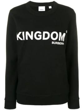 Kingdom Print Sweatshirt by Burberry
