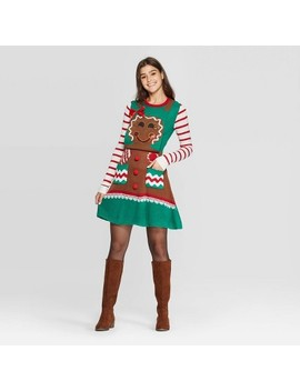Women's Long Sleeve Gingerbread A Line Dress   Born Famous (Juniors')   Brown by Born Famous