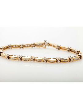 Estate $6000 3ct Baguette Diamond 14k Yellow Gold Tennis Bracelet Heavy by Ebay Seller