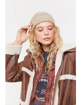 Femme Cable Knit Beanie by Urban Outfitters