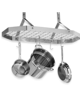 Cuisinart® Brushed Stainless Steel Octagonal Hanging Pot Rack by Bed Bath And Beyond