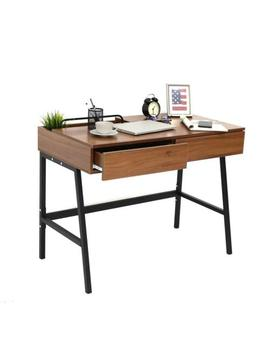 """39"""" Modern Wood Computer Writing Desk Home Office Study Table W/ 2 Drawers New by Kinbor"""