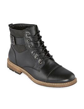Arizona Mens Lautner Flat Heel Lace Up Boots by Arizona