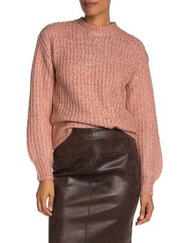 Metallic Sparkle Knit Sweater by Free Press