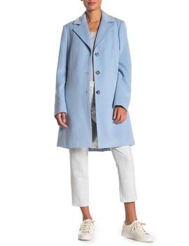 Woven Notch Lapel Coat by Calvin Klein